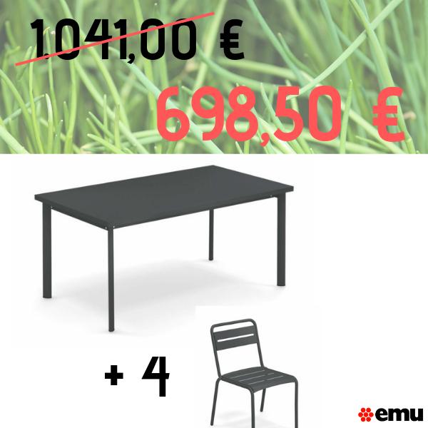 Set tavolo Star e sedie Star