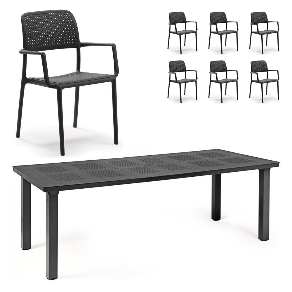 Set Levante (1 tavolo Levante + 6 sedie Bora)